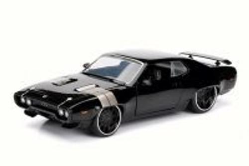 Dom's Plymouth GTX, Black - Jada 98428 - 1/24 Scale Diecast Model Toy Car
