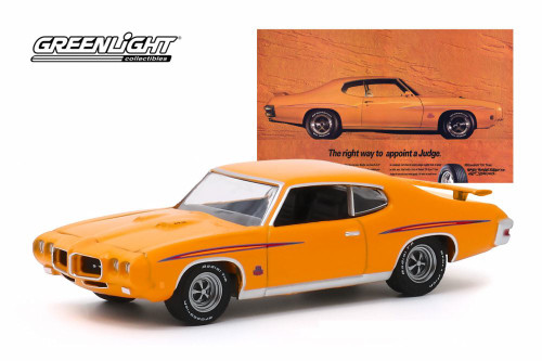 1970 Pontiac GTO Judge, 'The Right Way To Appoint A Judge' BFGoodrich Vintage Ad Car - Greenlight 30138/48 - 1/64 scale Diecast Model Toy Car