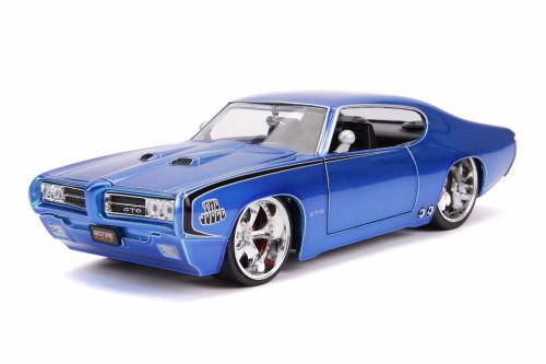 1969 Pontiac GTO Judge Hardtop, Blue - Jada 31667 - 1/24 scale Diecast Model Toy Car