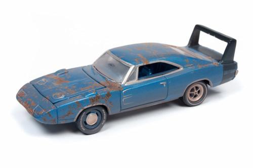 1969 Dodge Charger Daytona, Metallic Blue - Round 2 JLMC020/48B - 1/64 scale Diecast Model Toy Car