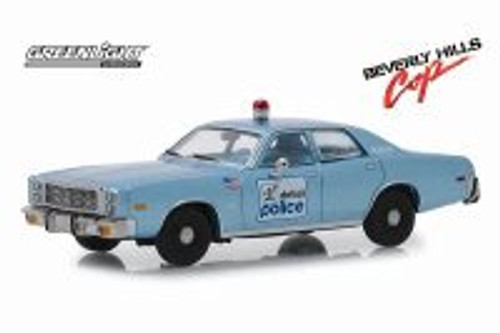 1977 Plymouth Fury (Detroit Police), Beverly Hills Cop - Greenlight 86565 - 1/43 scale Diecast Model Toy Car