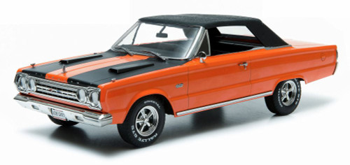 "Plymouth Belvedere GTX Convertible from ""Joe Dirt"", Orange w/ Black stripes - Greenlight 19006 - 1/18 scale Diecast Model Toy Car"