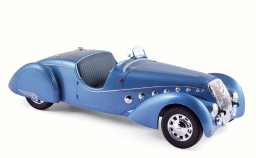 1937 Peugeot 302 Darl's Mat Roadster, Blue Metallic - Norev 184821 - 1/18 Scale Diecast Model Toy Car