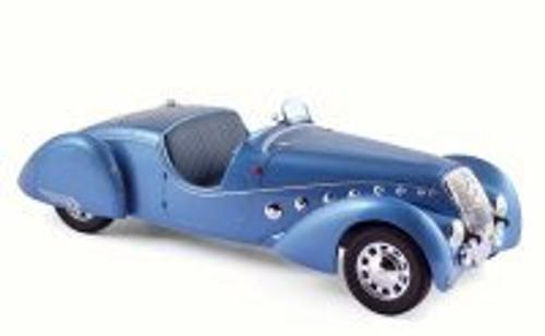 1937 Peugeot 302 Darl's Mat Roadster, Blue Metallic - Norev 184821 - 1/18 Scale Diecast Model Toy Car