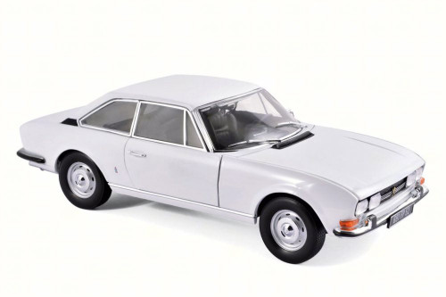 1969 Peugeot 504 Coupe, White - Norev 184825 - 1/18 Scale Diecast Model Toy Car