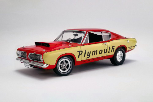 1968 Plymouth Barracuda Super Stock Test Mule, Red and Yellow - Acme A1806114 - 1/18 scale Diecast Model Toy Car