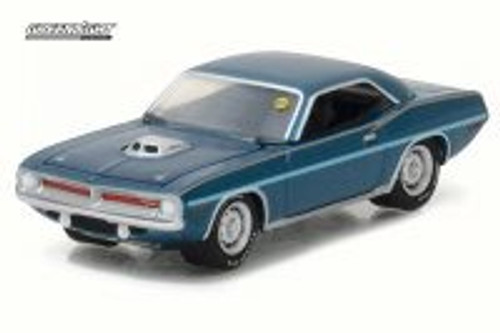 1970 Plymouth HEMI Cuda, Jamaica Blue - Greenlight 37110/48 - 1/64 Scale Diecast Model Toy Car