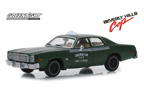 1976 Plymouth Fury Taxi Checker Cab, Beverly Hills Cop - Beverly Hills Coplight 86566 - 1/43 scale Diecast Model Toy Car
