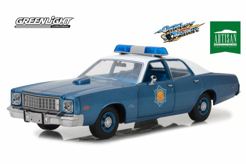 1975 Plymouth Fury Police Pursuit, Smokey and the Bandit - Greenlight 19044 - 1/18 Scale Diecast Model Toy Car