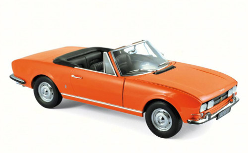 1970 Peugeot 504 Cabriolet, Orange - Norev 184826 - 1/18 Scale Diecast Model Toy Car