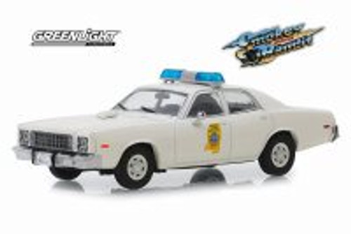 1975 Plymouth Fury, Smokey and The Bandit - Mississippi Highway Patrol - Greenlight 86557 - 1/43 scale Diecast Model Toy Car