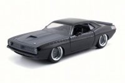 Letty's Plymouth Barracuda, Black - Jada 97310 - 1/24 Scale Diecast Model Toy Car (Brand New, but NOT IN BOX)