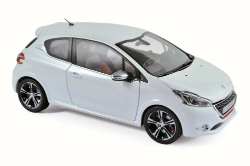 2013 Peugeot 208 GTi, Pearl White - Norev 184824 - 1/18 Scale Diecast Model Toy Car