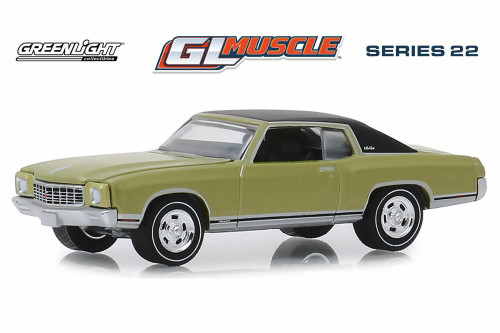 1971 Chevy Monte Carlo SS 454 Hardtop, Cottonwood Green - Greenlight 13250D/48 - 1/64 scale Diecast Model Toy Car