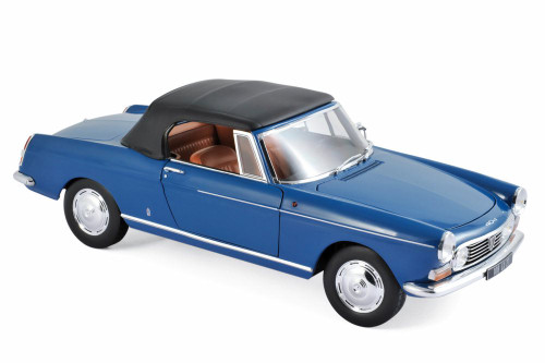 1967 Peugeot 404 Cabriolet, Blue - Norev 184832 - 1/18 Scale Diecast Model Toy Car