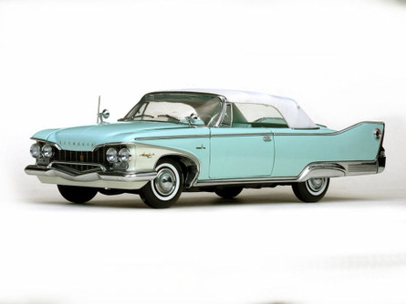 1960 Plymouth Fury Closed Convertible, White - Sun Star 5411 - 1/18 Scale Diecast Model Toy Car