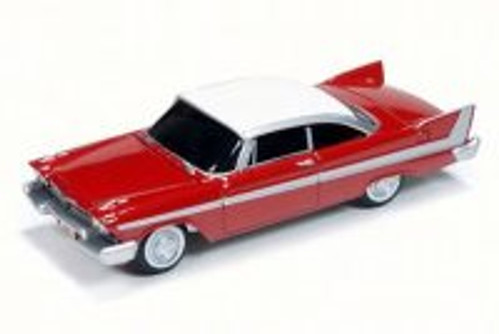 1958 Christine Plymouth Fury, Red w/ White - Auto World AWSS6401 - 1/64 Scale Diecast Model Toy Car