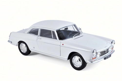 1967 Peugeot 404 Coupe, White - Norev 184831 - 1/18 Scale Diecast Model Toy Car