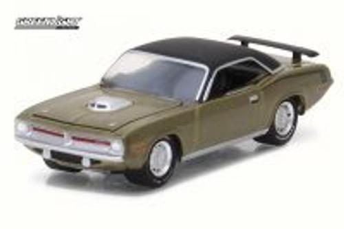 1970 Plymouth Hemi Cuda, Citron Gold - Greenlight 13190B/48 - 1/64 Scale Diecast Model Toy Car
