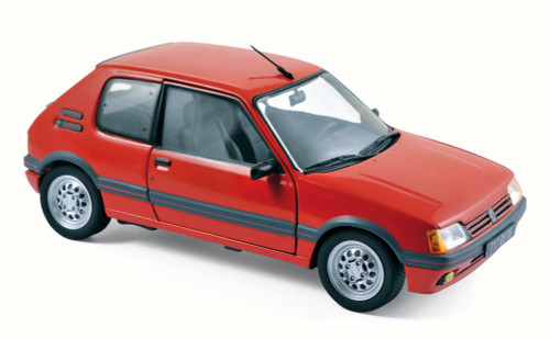 1988 Peugeot 205 GTi 1.6 Coupe, Vellelunga Red - Norev 184853 - 1/18 Scale Diecast Model Toy Car