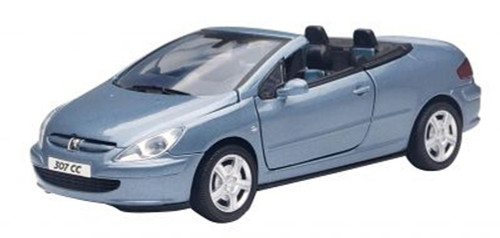 Peugeot 307CC, Blue - Motormax 73286 - 1/24 scale Diecast Model Toy Car