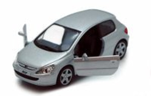 Peugeot 307 XSI, Silver - Kinsmart 5079D - 1/32 scale Diecast Model Toy Car (Brand New, but NOT IN BOX)