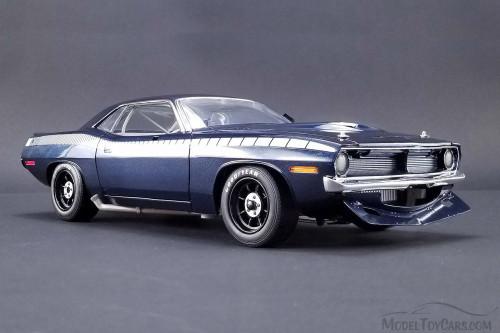 1970 Plymouth Dan Gurney Trans Am Barracuda #48 Street Version, Blue - Acme 1806101B - 1/18 Scale Diecast Model Toy Car