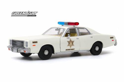 1977 Plymouth Fury, Hazzard County Sheriff - Greenlight 84095 - 1/24 scale Diecast Model Toy Car