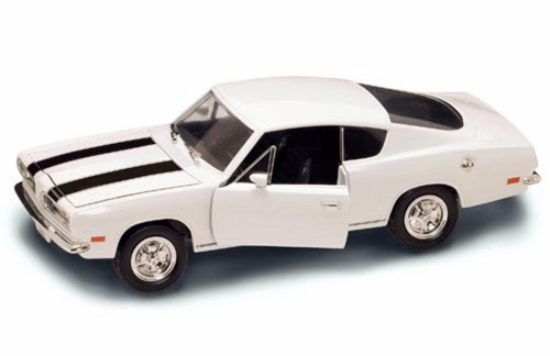 1969 Plymouth Barracuda, White - Yatming 92179 - 1/18 Scale Diecast Model Toy Car