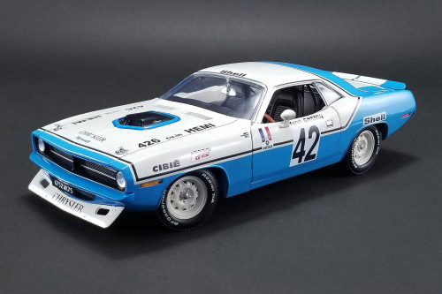 1970 Plymouth Barracuda, #42 Chrysler Of France Henri Chemin  - Acme 1806102 - 1/18 Scale Diecast Model Toy Car