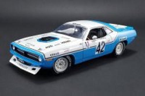 1970 Plymouth Barracuda, #42 Chrysler Of France Henri Chemin  - Acme 1806102 - 1/18 Scale Diecast Model Toy Car