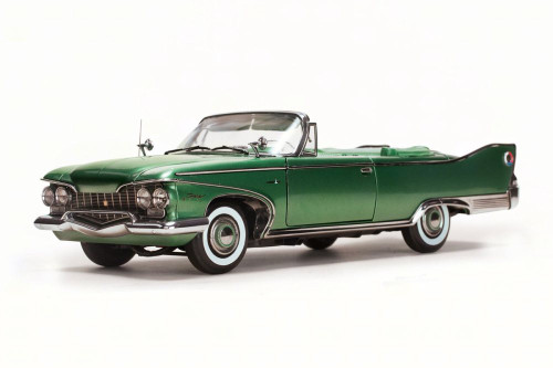1960 Plymouth Fury Open Convertible, Chrome Green - Sun Star 5404 - 1/18 Scale Diecast Model Toy Car