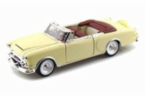 1953 Packard Caribbean Convertible, Cream - Welly 24016CW/CM - 1/24 scale Diecast Model Toy Car