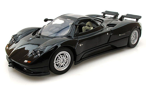 Pagani Zonda C12, Black - Motormax 73272 -1/24 scale Diecast Model Toy Car