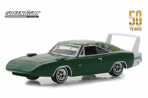 1969 Dodge Charger Daytona Mod Top, Green - Greenlight 27970/48 - 1/64 scale Diecast Model Toy Car