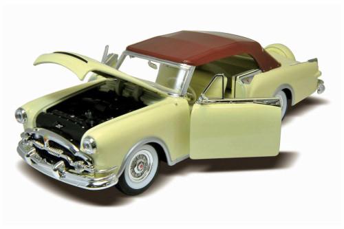 1953 Packard Caribbean Soft Top, Cream - Welly 24016HW/CM - 1/24 scale Diecast Model Toy Car