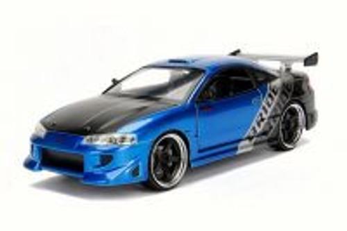 1995 Mitsubishi Eclipse, Metallic Blue - Jada 30345DP1 - 1/24 Scale Diecast Model Toy Car