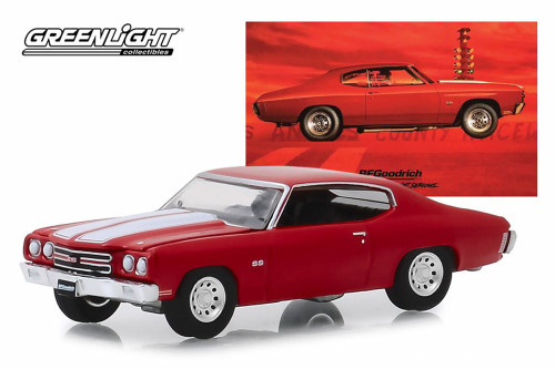 1970 Chevy Chevelle SS 454, Red - Greenlight 30061/48 - 1/64 scale Diecast Model Toy Car