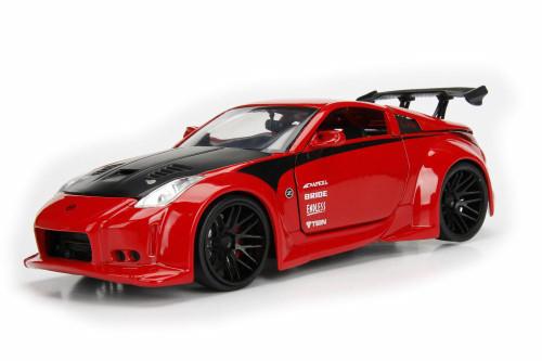 2003 Nissan 350Z Hard Top, Red - Jada 99110WA1 - 1/24 Scale Diecast Model Toy Car