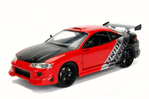 1995 Mitsubishi Eclipse, Red - Jada 99103WA1 - 1/24 Scale Diecast Model Toy Car