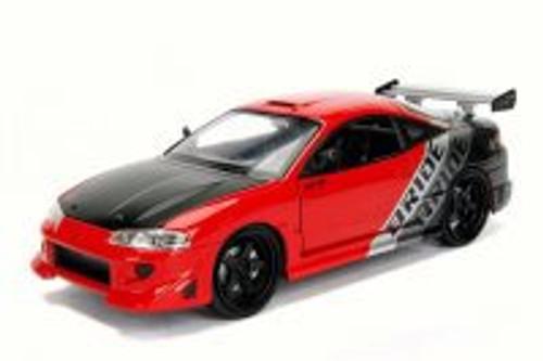 1995 Mitsubishi Eclipse, Red - Jada 99103WA1 - 1/24 Scale Diecast Model Toy Car