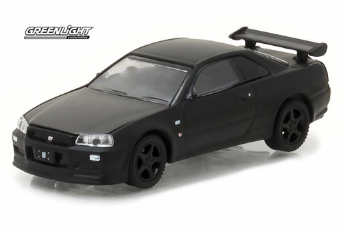 2000 Nissan Skyline GT-R, Black - Greenlight 27930D/48 - 1/64 Scale Diecast Model Toy Car