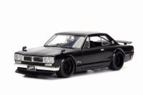1971 Nissan Brian's Skyline 2000 GT-R, Black - Jada 99793 - 1/24 Scale Diecast Model Toy Car
