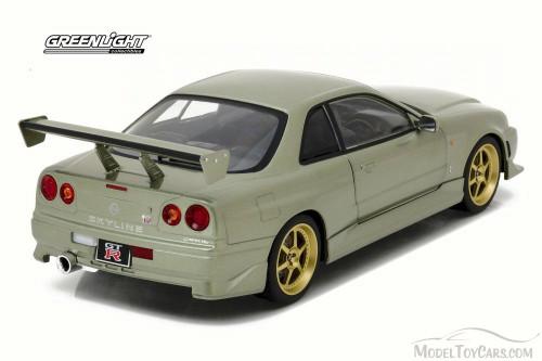 1999 Artisan Nissan Skyline GT-R R34, Millennium Jade - Greenlight 19033 - 1/18 Scale Diecast Model Toy Car