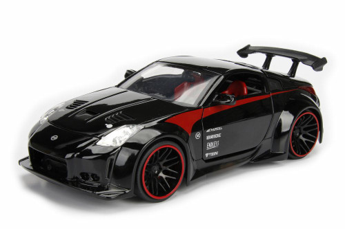 2003 Nissan 350Z Hard Top, Black w/ Red - Jada 99112DP1 - 1/24 Scale Diecast Model Toy Car