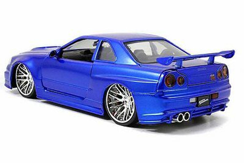 Fast & Furious Brian's Nissan Skyline GT-R, Candy Blue - Jada Toys 97173 - 1/24 Scale Diecast Model Toy Car