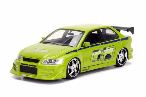 2002 Mitsubishi Lancer Evolution VII (Brian/Tej), 2 Fast 2 Furious - Jada 99794 - 1/24 Scale Diecast Model Toy Car