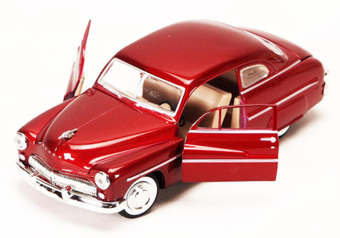 1949 Mercury Eight Coupe, Red - Motormax 73225 - 1/24 scale Diecast Model Toy Car