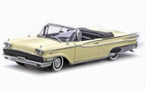 1959 Mercury Park Lane Convertible, Yellow - Sun Star 5152 - 1/18 Scale Diecast Model Toy Car