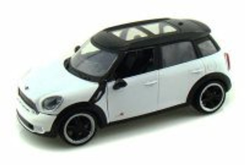 Mini Cooper S Countryman, White with Black Roof - Motormax 73353 - 1/24 Scale Diecast Model Toy Car